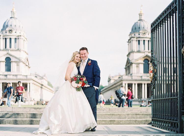 Bride in Sassi Holford Gown   Groom in Neal & Palmer Navy Suit   Classic Wedding at Trafalgar Tavern, Greenwich, London   Ann-Kathrin Koch Photography