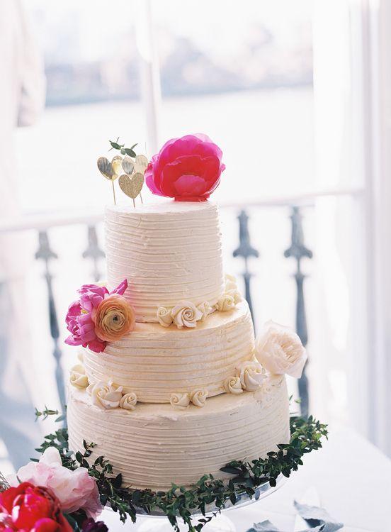 Buttercream Icing Wedding Cake   Classic Wedding at Trafalgar Tavern, Greenwich, London   Ann-Kathrin Koch Photography