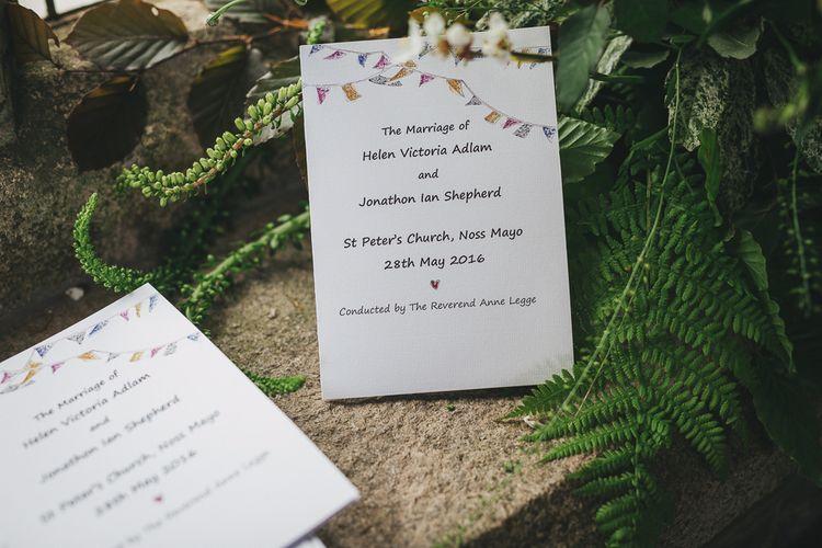 Colourful Bunting Wedding Stationery