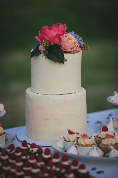 Elegant Frosted Wedding Cake