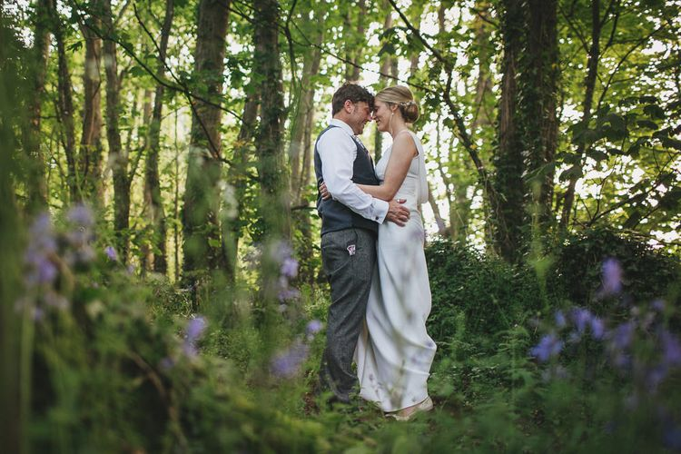 Bride & Groom in the Woods