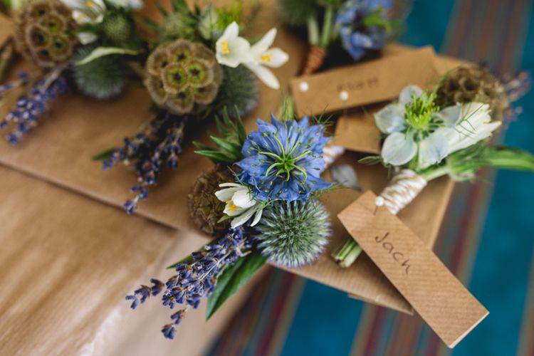 Rustic Buttonholes For Wedding