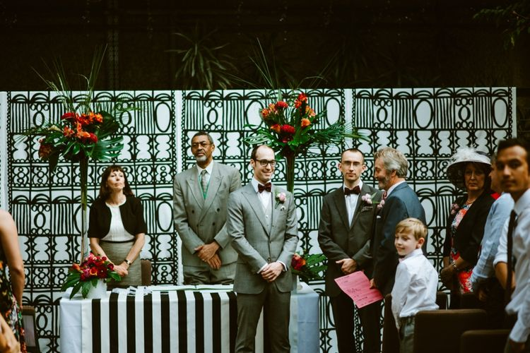 Groom at the Barbican Conservatory Altar