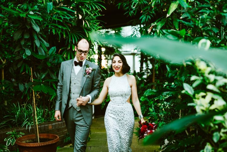 Bride & Groom at the Barbican Conservatory London