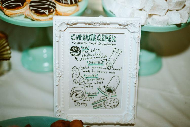 Food Wedding Sign