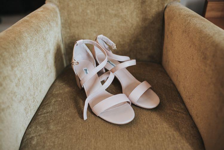 Dune Pale Pink Sandals For Bride