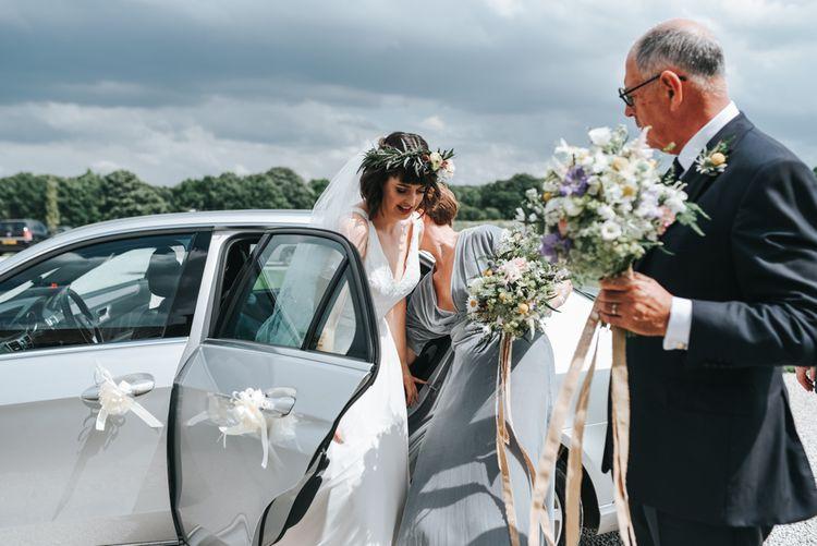 Rustic Bouquet & Flower Crown For Bride