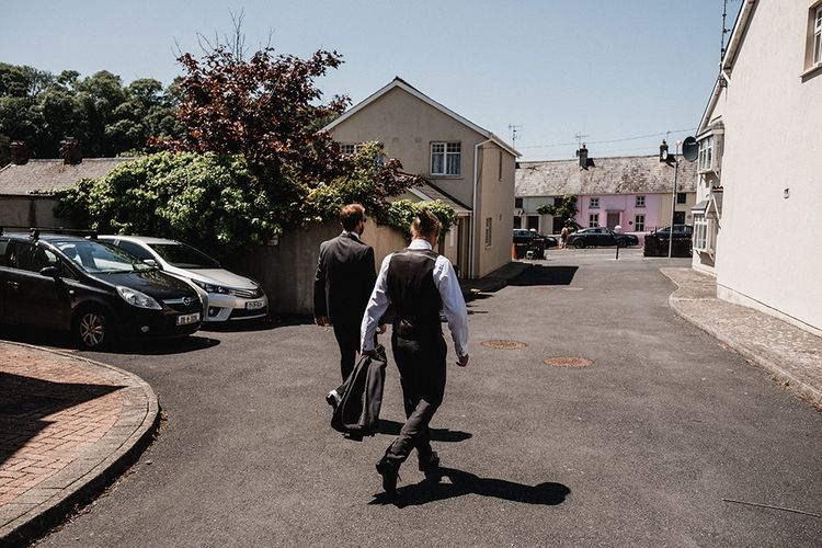 Groomsmen   Outdoor Wedding at The Haven Hotel in Southern Ireland   Jason Mark Harris Photography