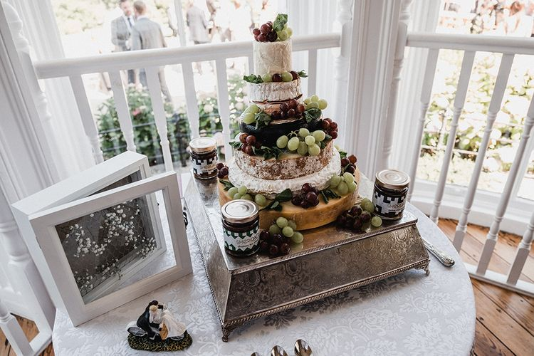 Cheese Tower Wedding Cake   Outdoor Wedding at The Haven Hotel in Southern Ireland   Jason Mark Harris Photography