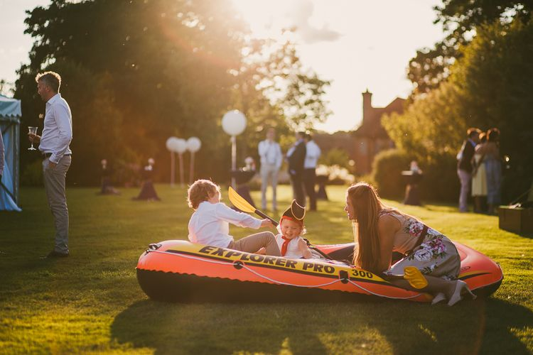 Dingy Children's Entertainment | Nautical At Home Marquee Wedding by 81 Events | RS Brown Photography
