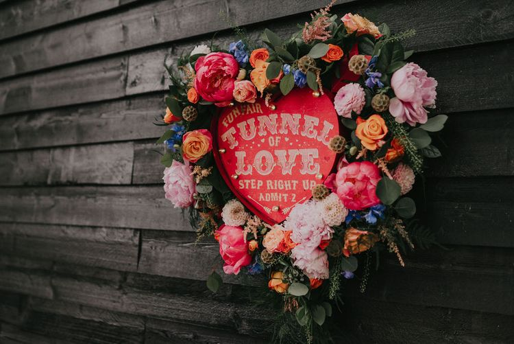 Floral Heart Shaped Wreath For Wedding