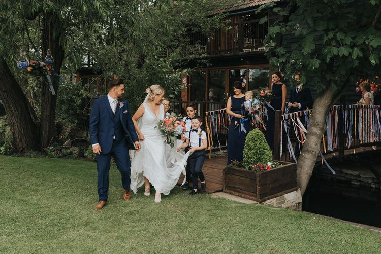 Vintage Circus Themed Wedding At Old Brook Barn Essex With Bride In Ronald Joyce & Images By Kelsie Low Photography
