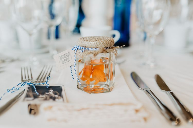 Pretend Goldfish In A Bowl Favours For Circus Themed Wedding