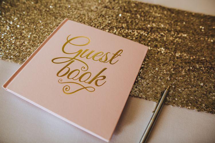 Pink & Gold Wedding Guest Book