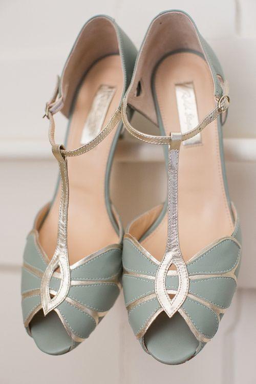 Rachel Simpson Mint Mimosa Wedding Shoes