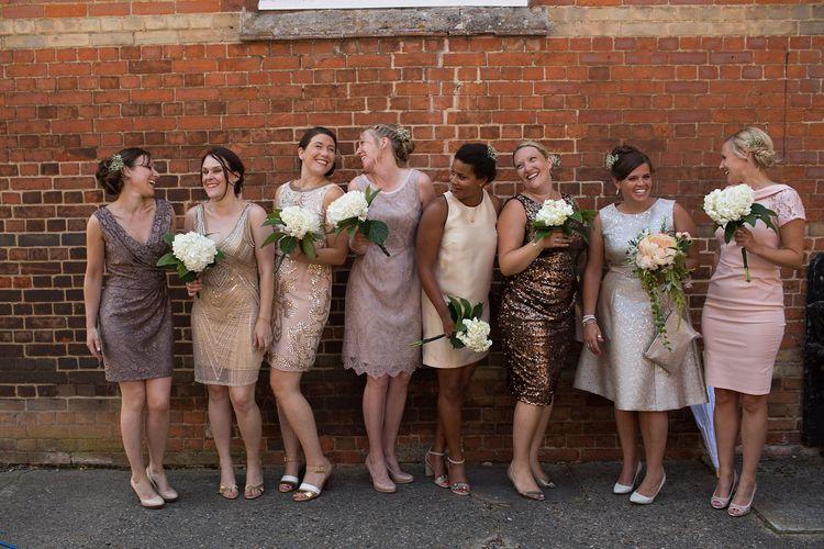 Bridesmaid in Different Dresses