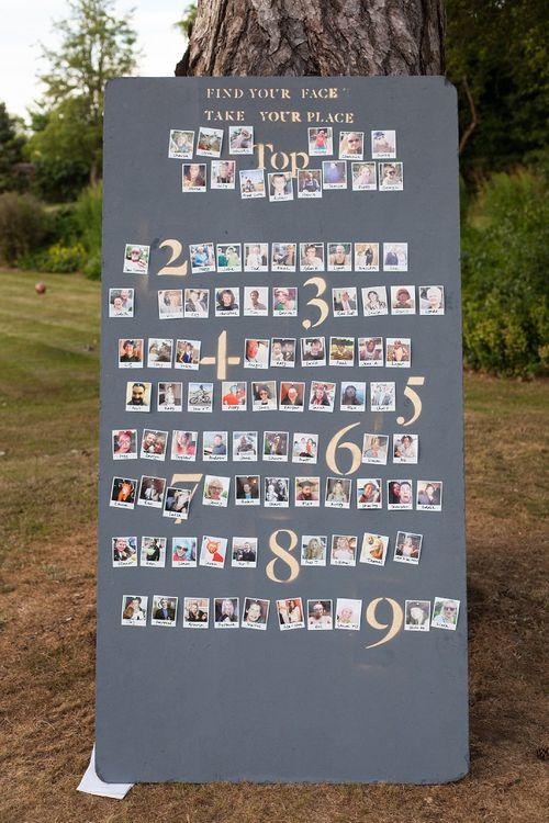 DIY Polaroid Picture Table Plan