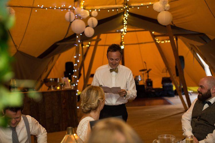 Tipi Reception Wedding Speeches