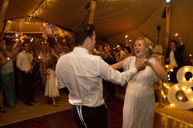 Tipi Reception Bride & Groom First Dance
