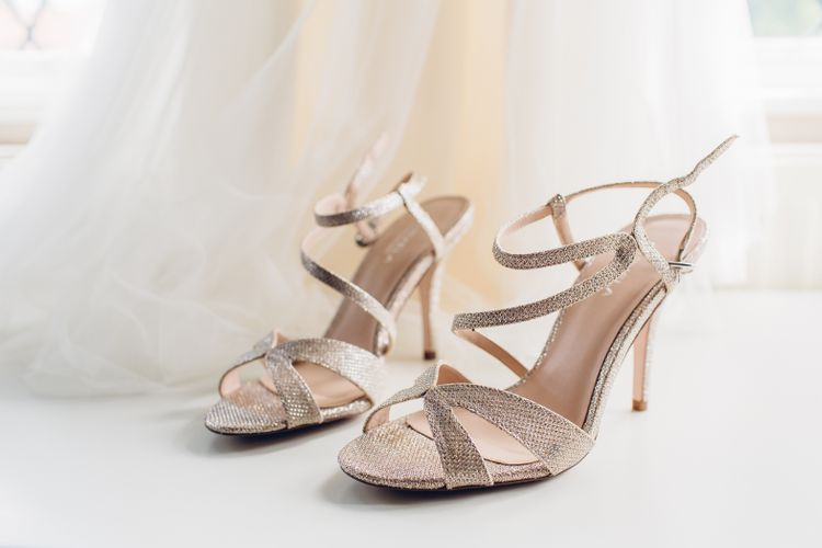 Metallic Wedding Heels