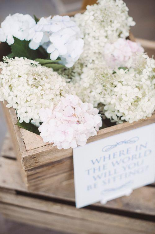 White Hydrangeas Wedding Flowers