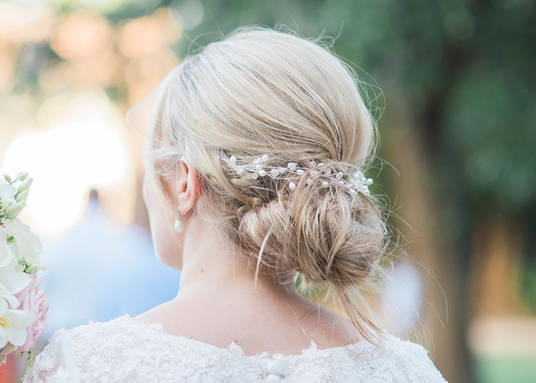 Relaxed Up Do For Wedding Ceremony