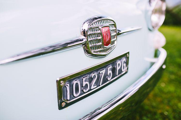 Mint Green Wedding Car