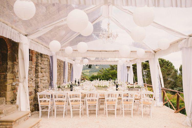 White on White Outdoor Reception