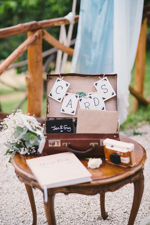 Vintage Card Box Wedding Decor