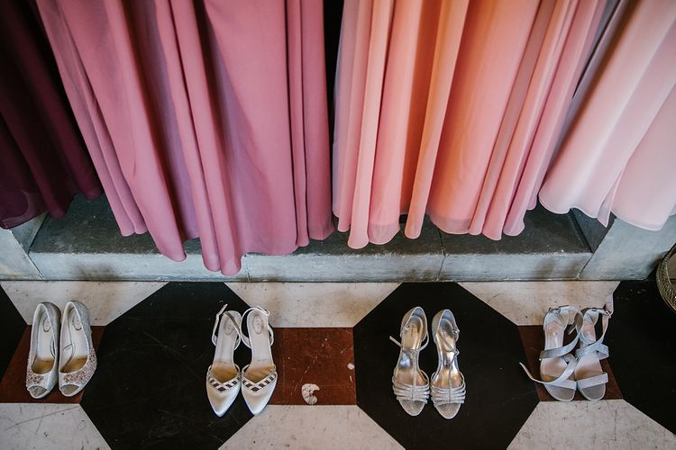 Bridesmaids Pink For Her and For Him Dresses & Shoes | Spring Wedding at Hengrave Hall | Katherine Ashdown Photography