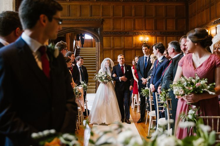 Wedding Ceremony | Bride in Naomi Neoh Fleur Gown | Groom in Moss Bros Suit | Spring Wedding at Hengrave Hall | Katherine Ashdown Photography