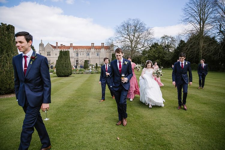 Wedding Party | Spring Wedding at Hengrave Hall | Katherine Ashdown Photography