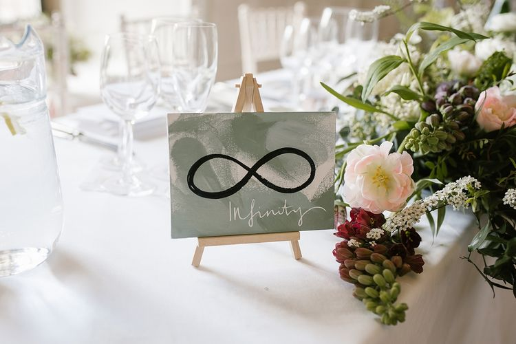 Infinity Table Name | Wedding Stationery | Wedding Decor | Spring Wedding at Hengrave Hall | Katherine Ashdown Photography