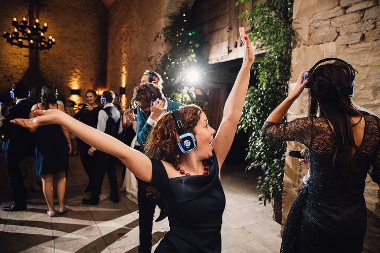Wedding Reception at Stone Barn With A Silent Disco