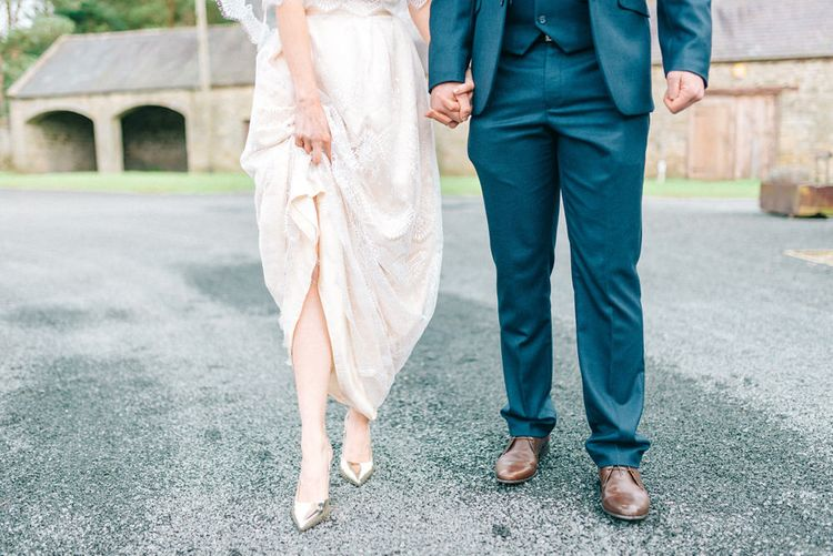 Gold Shoes From ASOS For Wedding