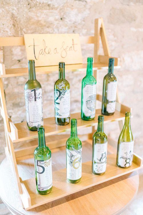 Wine Bottle Table Plan