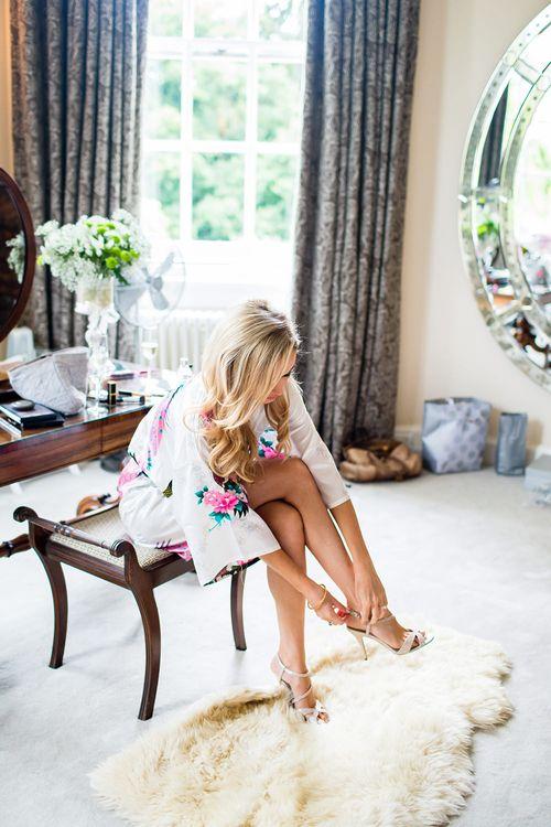Bride Getting Ready | Kurt Geiger Wedding Shoes