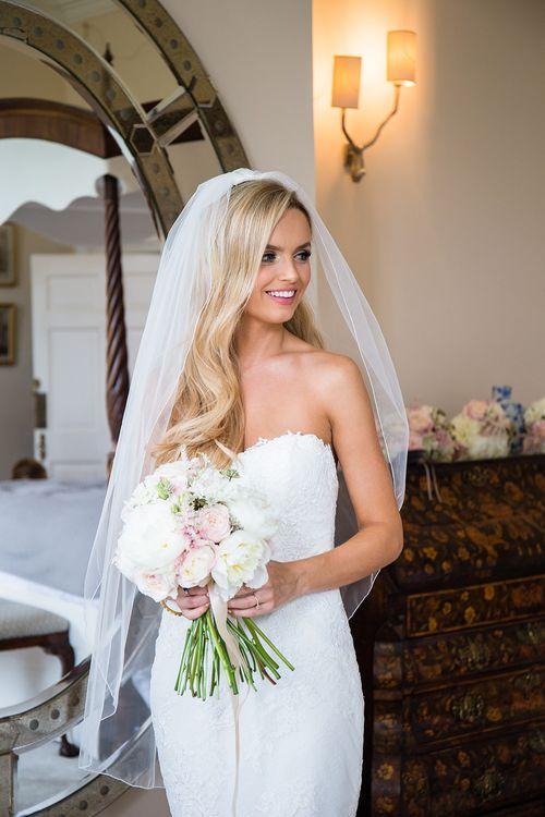 Elegant Bride in Pronovias Wedding Dress