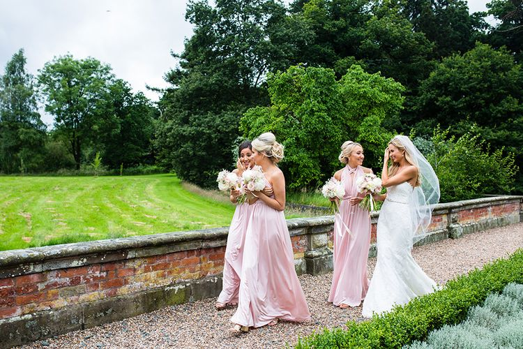 Bridesmaids in Pink Multiway Debenhams Dresses