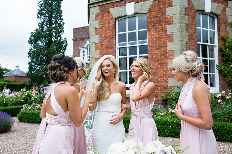 Bridesmaids in Pink Multiway Dresses
