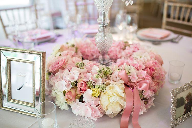 Blush Flower Arrangement Centrepiece