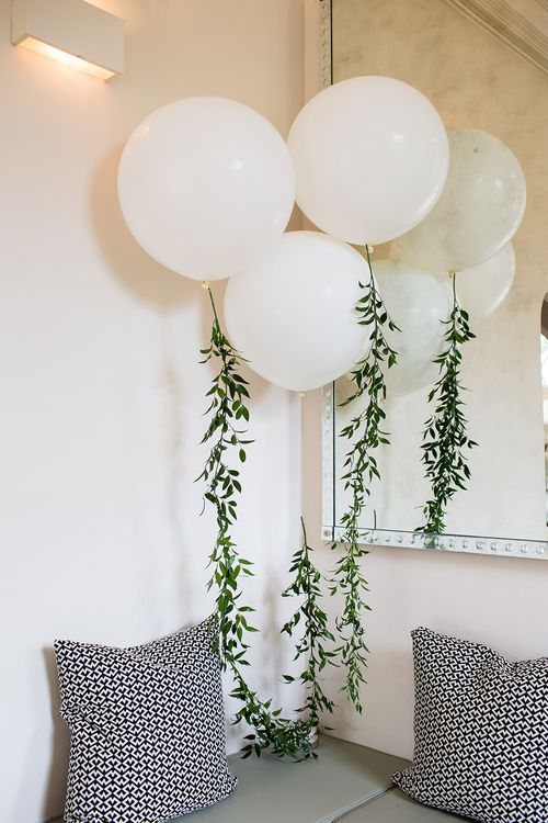 Giant Balloons with Foliage Garland