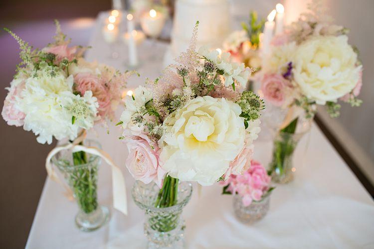 Blush Flower Stems in Vases