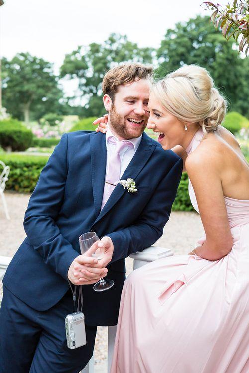 Bridesmaid in Multiway Pink Debenhams Dress