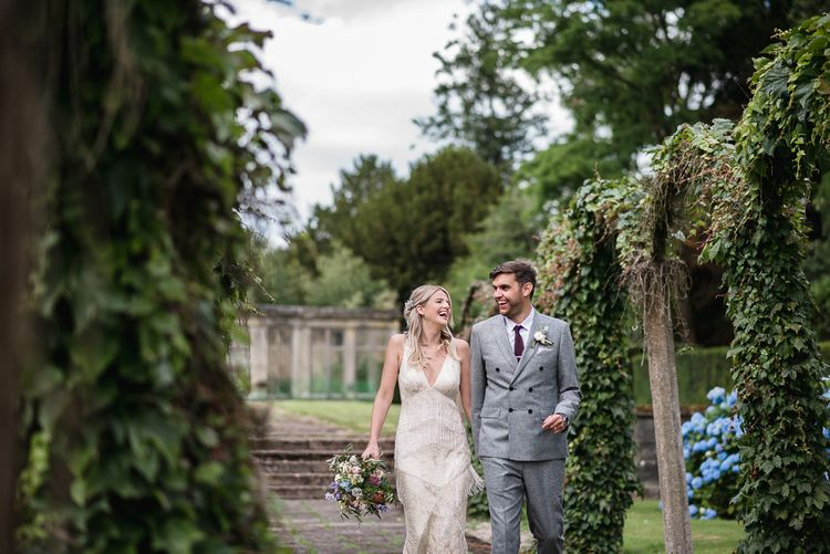 Woodstock Festival Inspired Wedding With Bespoke Dress And Floral Bridesmaids Dresses At Sandon Hall Images By Emma Hare Photography