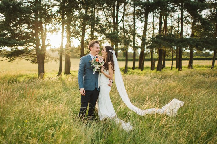 Sunset Bride & Groom Portrait