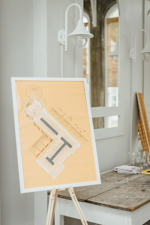 Architectural Table Plan For Wedding