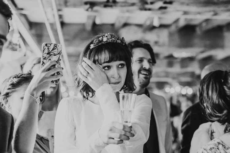 Vintage Inspired Canal Boat Wedding With Dried Flowers And Edison Bulb Decor Images From El Hitched Videography By Jo And Jody Films
