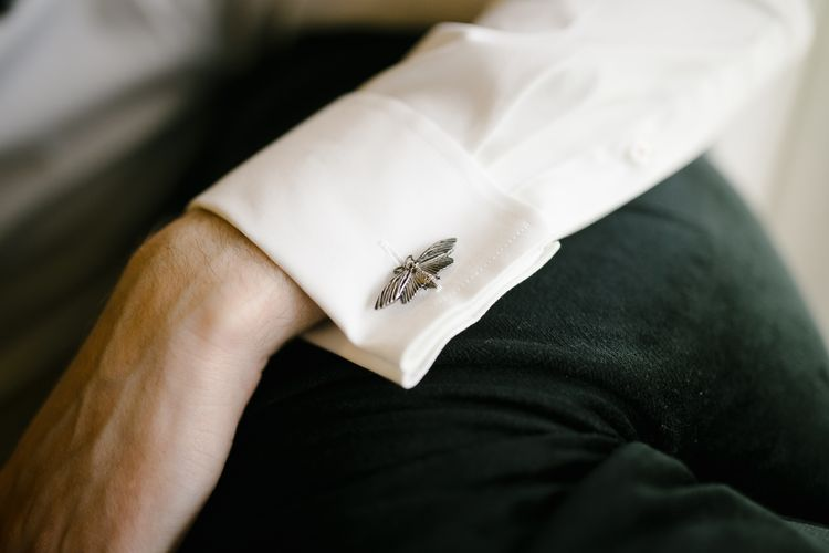 Cuff Links | Monochrome Wedding at Syon Park London | Chris Barber Photography | Second Shooter Beatrici Photography
