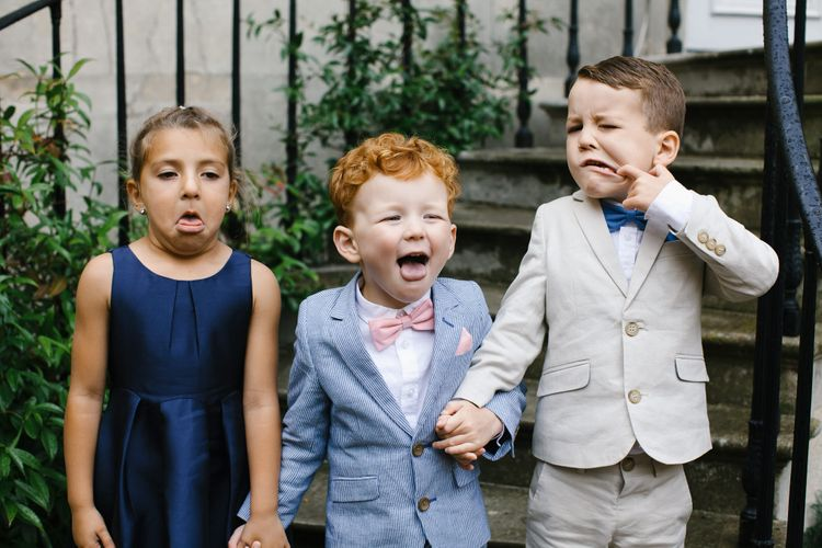 Page Boys & Flower Girl | Monochrome Wedding at Syon Park London | Chris Barber Photography | Second Shooter Beatrici Photography